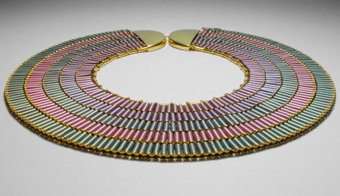 Egyptian-inspired necklace Helena Hedman at the National Museum